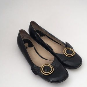Chloé black flats with buckle